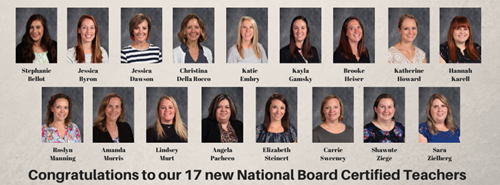 Photos of the new board certified teachers