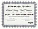 KY Adult Education Certificate
