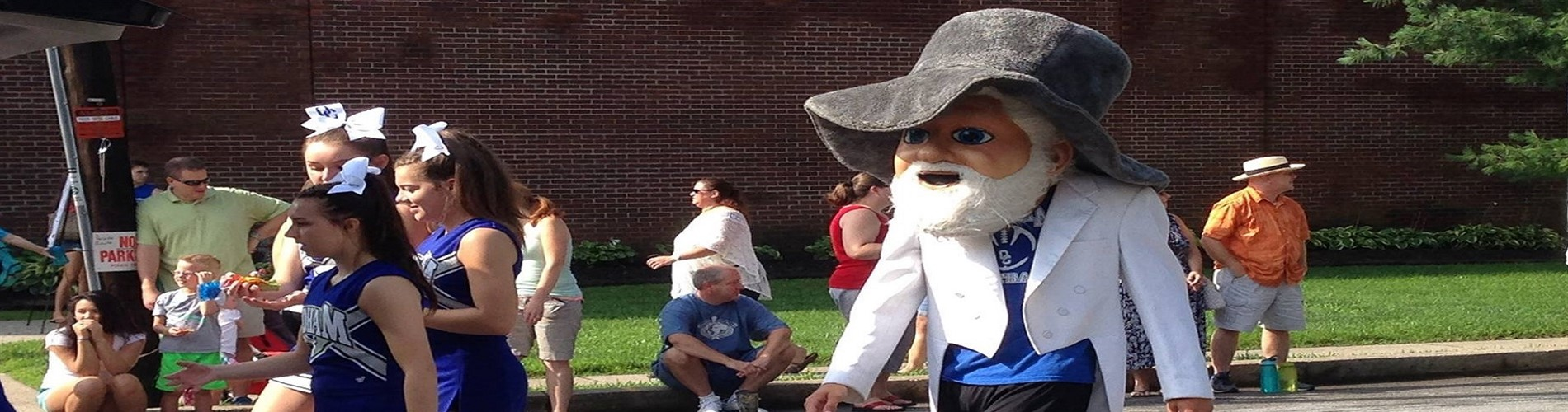 OCHS Colonel Mascot in the Oldham County Parade.