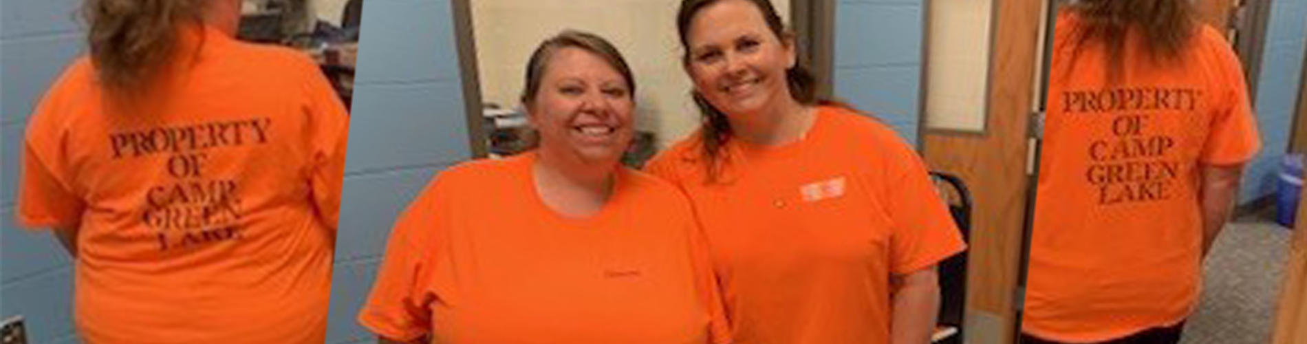 Media Center Inmates!  Mrs. Storm and Mrs. Gary