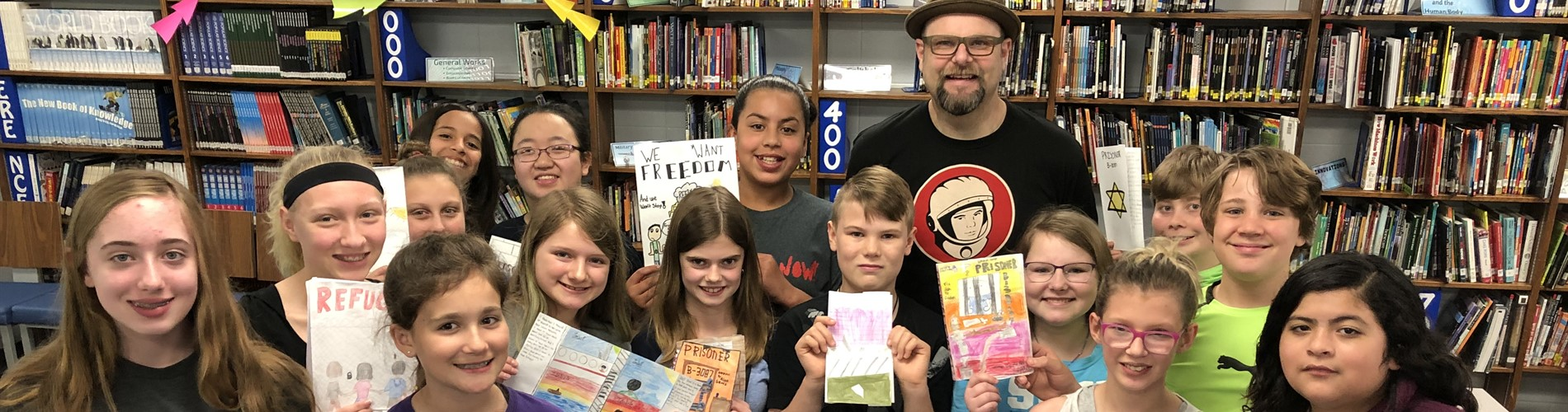 Alan Gratz and Lunch with the Author contest winners