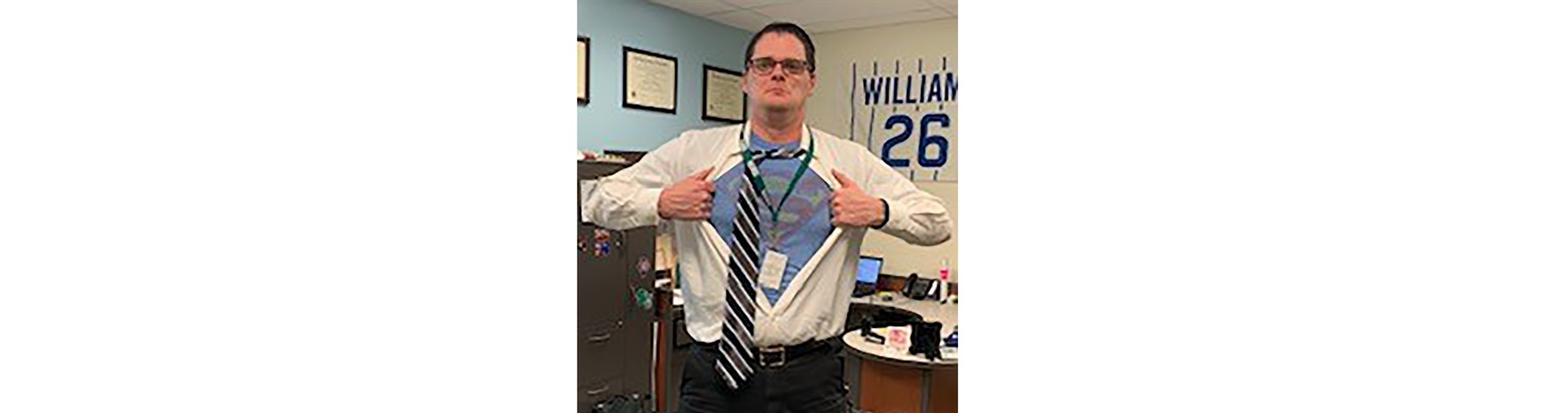 SOMS's own Superman, aka Mr. Hunsaker