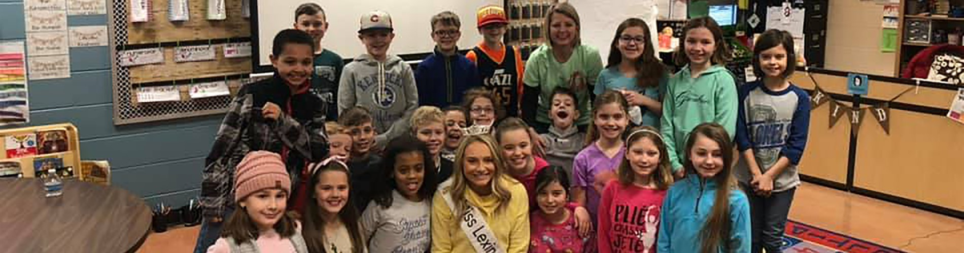 Miss Lexington visits Centerfield Elementary