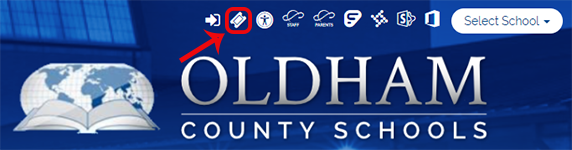 Incident IQ Ticket Icon on OCS District Website