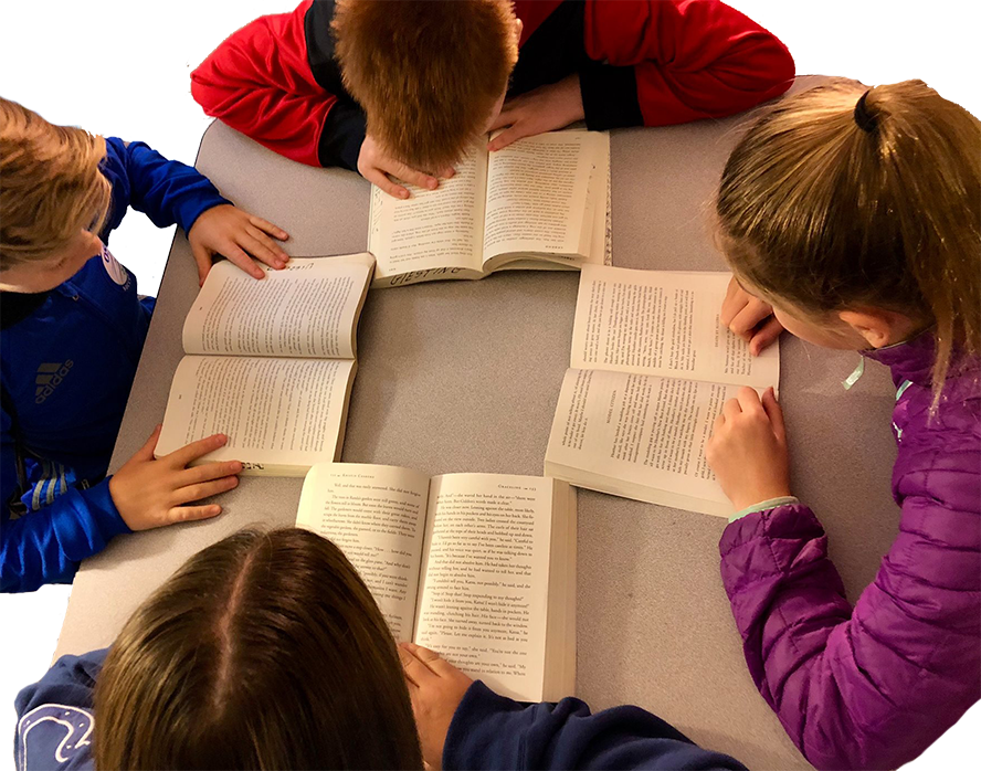 Oldham County School Students reading