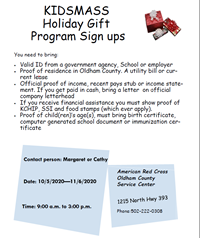 KIDSMASS Holiday Gift Program Sign ups